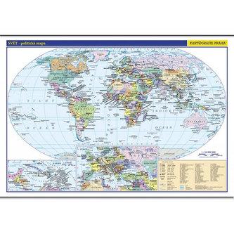 Svět - školní nástěnná politická mapa 1:26 mil./136x96 cm - neuveden