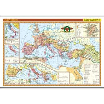 Starověký Řím - školní nástěnná mapa/136 x 96 cm - neuveden