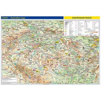 Česká republika - školní nástěnná vlastivědná mapa 1:370 tis./136x96 cm - neuveden