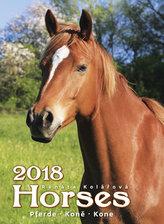 Kalendář nástěnný 2018 - Koně