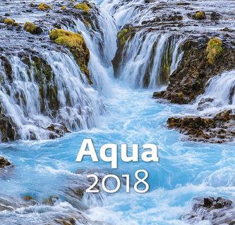Kalendář nástěnný 2018 - Aqua