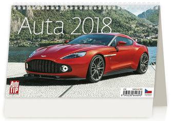 Kalendář stolní 2018 - Auta 226x139 - neuveden