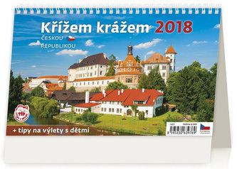 Kalendář stolní 2018 - Křížem krážem Českou republikou - neuveden