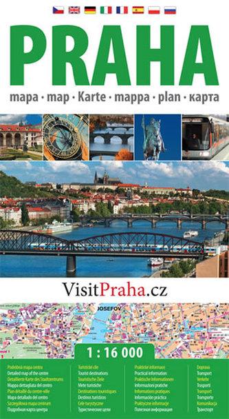 Praha - plán města 1:16 000