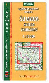 Šumava - Kvilda, Churáňov - cykloturistická mapa č. 1 /1:55 000