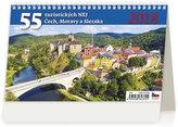 Kalendář stolní 2018 - 55 Turistických nej Čech, Mravy a Slezska