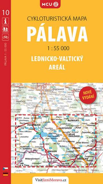 Pálava - Lednicko-valtický areál - cykloturistická mapa č. 10 /1:55 000 - neuveden