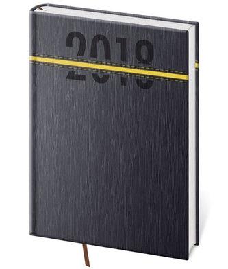 Diář 2018 - Stripes/denní A5/žlutá - neuveden
