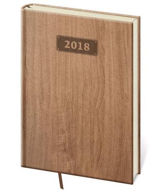 Diář 2018 - Wood/denní A5/světle hnědá - neuveden