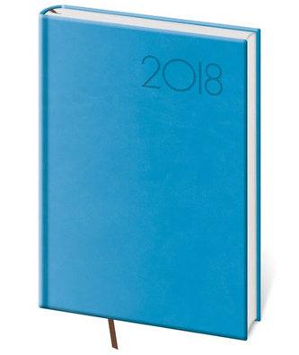Diář 2018 - Print/týdenní A5/světlé modrá - neuveden