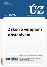 UZZ 13/2017 Zákon o verejnom obstarávaní