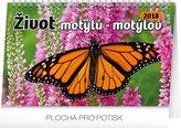 Kalendář stolní 2018 - Život motýlů – motýlov CZ/SK, 23,1 x 14,5 cm