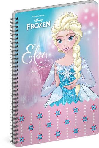 Blok - Frozen – Ledové království Elsa, linkovaný, spirálový, A4 - neuveden