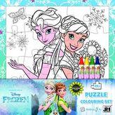 Ledové království omalovánkové puzzle