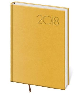 Diář 2018 - Print/týdenní A5/žlutá - neuveden