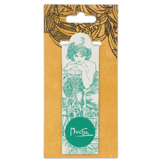 Magnetická záložka Alfons Mucha – Emerald, Fresh Collection - neuveden