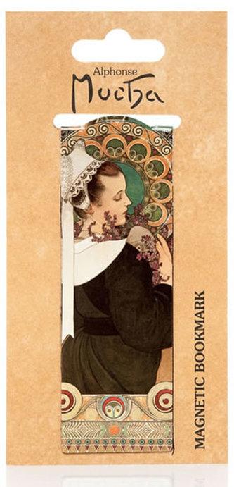 Magnetická záložka Alfons Mucha – Heather - neuveden