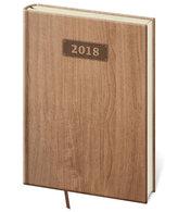 Diář 2018 - Wood/týdenní A5/světle hnědá