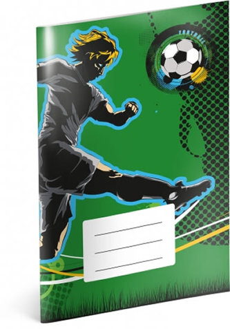 Sešit - Fotbal, čtverečkový, 40 listů, A5