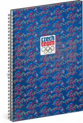Blok - Český olympijský tým, linkovaný, spirálový, A5