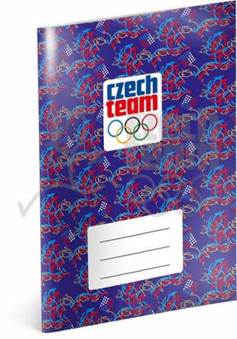 Sešit - Český olympijský tým, linkovaný, 40 listů, A5