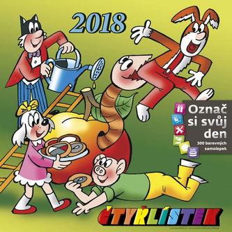 Kalendář nástěnný 2018 - Čtyřlístek 300x300