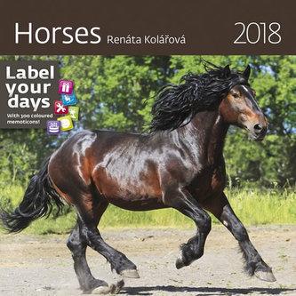 Kalendář nástěnný 2018 - Horses