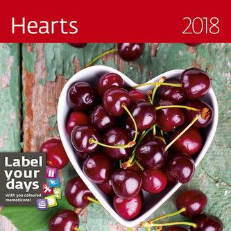 Kalendář nástěnný 2018 - Hearts