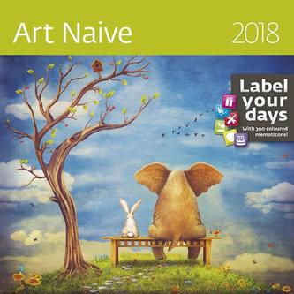 Kalendář nástěnný 2018 - Art Naive