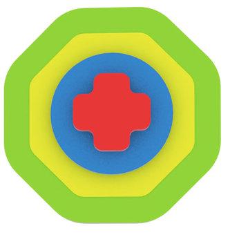 Moje první puzzle - Tvary osmiúhelník/zelená