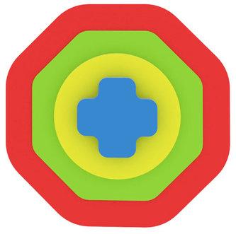 Moje první puzzle - Tvary osmiúhelník/červená