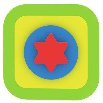 Moje první puzzle - Tvary čtverec/hvězda zelená