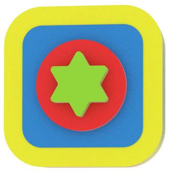 Moje první puzzle - Tvary čtverec/hvězda žlutá