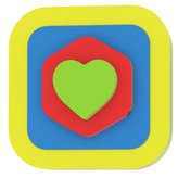 Moje první puzzle - Tvary čtverec/srdce žlutá
