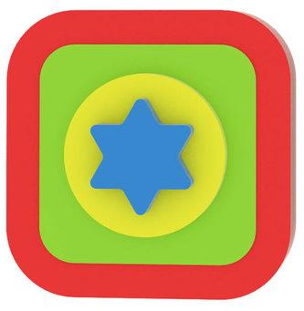 Moje první puzzle - Tvary čtverec/hvězda červená
