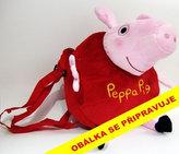 Plyšová kabelka ve tvaru Prasátka Peppa - růžová