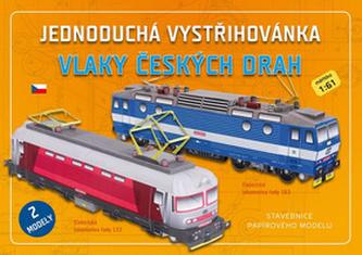 Vlaky českých drah - Jednoduchá vystřihovánka
