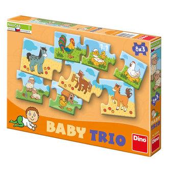 RODINA - baby trio puzzle 8x3 - neuveden