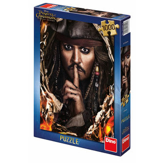 Piráti z Karibiku 5 - Kapitán Jack - puzzle 1000 dílků - Dino Toys