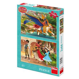 Elena z Avaloru - puzzle 2x66 dílků - The Walt Disney Company