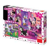 Den s Minnie - puzzle 3x55 dílků