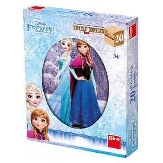 Ledové království - dřevěné kostky 20 kostek - The Walt Disney Company