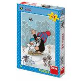Krtek a sněhulák - puzzle 24 dílků