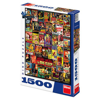 Filmové plakáty - puzzle 1500 dílků - neuveden
