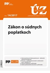 UZZ 14/2017 Zákon o súdnych poplatkoch