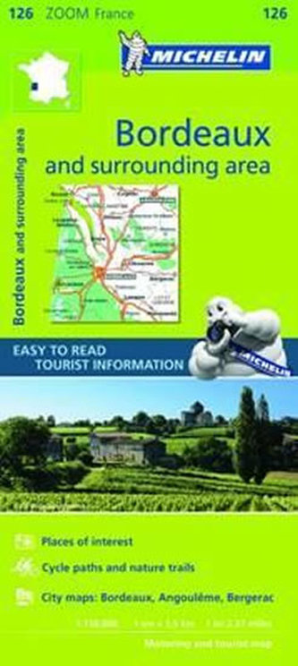 Bordeaux & Surrounding Areas Zoom Map - neuveden