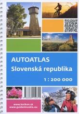 Autoatlas Slovenská republika 1:200 000 + cyklotrasy