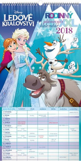 Rodinný plánovací XXL Ledové království - nástěnný kalendář 2018