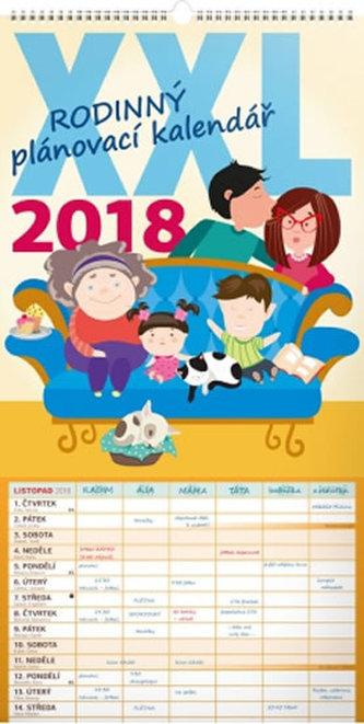 Rodinný plánovací XXL - nástěnný kalendář 2018