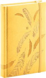 Diář 2018 - Vivella speciál - denní, B6, žlutý, 11 x 17 cm